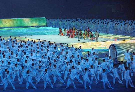 图文-2008北京奥运会开幕式 中国特色的表演