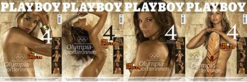 图文-德国奥运女将登《花花公子》 四联性感封面
