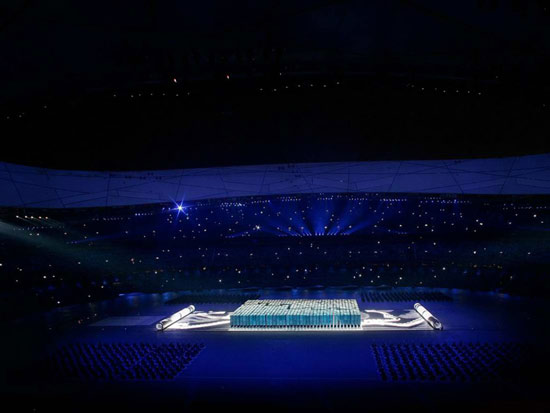 图文-北京奥运会开幕式回顾 超炫字模闪耀鸟巢