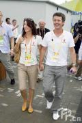 图文-奥运村的幸福生活 丹麦王储夫妇参观奥运村