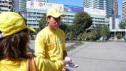 图文-祝福北京塔塔尔族使者评选 伊里旦宣传防艾