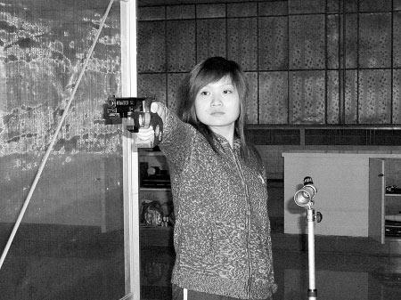 图文-奥运冠军郭文�B成长影像 训练中的她格外动人