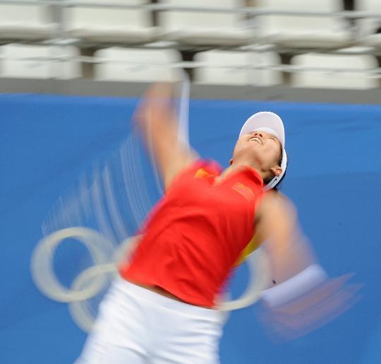 图文-奥运会网球比赛精彩瞬间回顾 效果很迷离