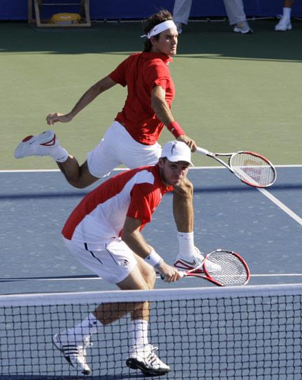 图文-奥运会网球比赛精彩瞬间回顾 配合十分默契