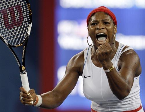 图文-奥运会网球比赛精彩瞬间回顾 小威激情大吼