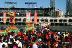 图文-北京奥运圣火在旧金山传递 舞龙舞狮表演