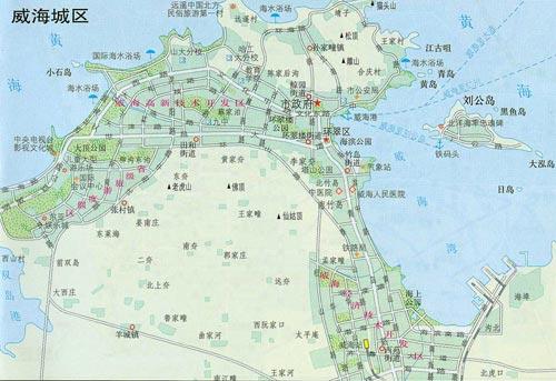 威海城区地图