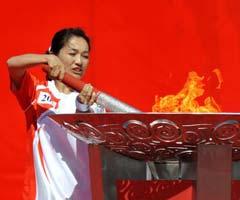 奥运会圣火在昌吉传递
