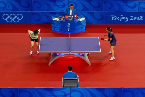 图文-奥运会乒乓球经典瞬间回顾 谁赢裁判说了算