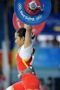 图文-08奥运会举重比赛集锦 陈燮霞轻松完成任务