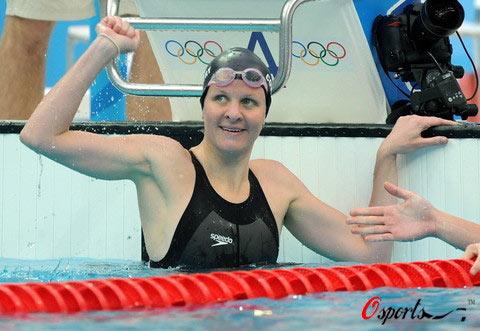 图文-女子100米仰泳半决赛 考文垂打破世界记录
