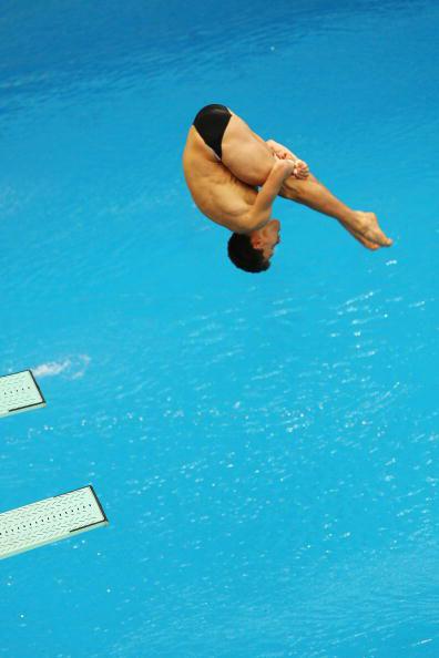 图文-跳水男子三米板半决赛 德国人豪斯丁