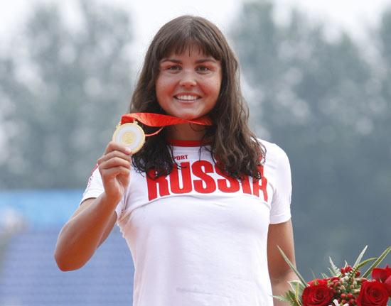 图文-女子10公里公开水域决赛 伊尔琴科的冠军豪情
