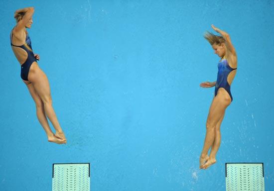 图文-北京奥运跳水赛经典瞬间 起跳瞬间决定一切
