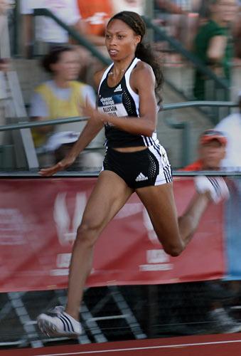 图文-美国田径奥运选拔赛 百米飞人菲利克斯