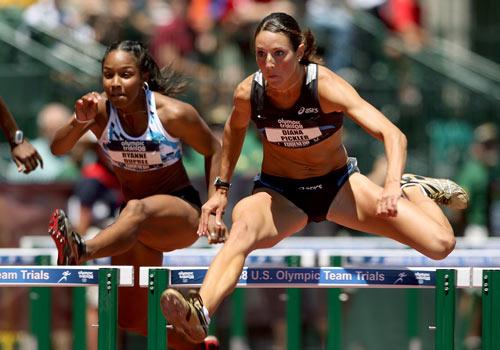 图文-美国田径奥运选拔赛 皮克勒400米栏英姿