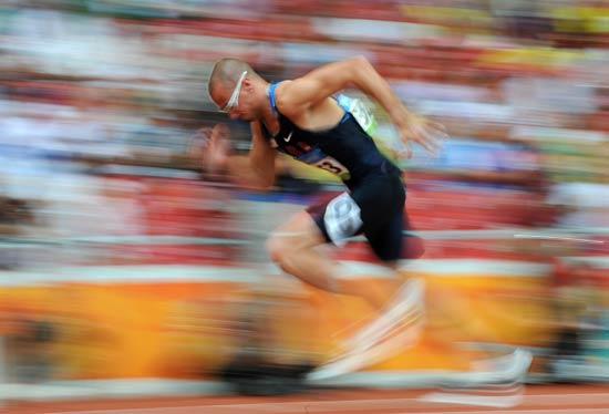 图文-奥运会男子400米预赛 美国选手瓦里纳