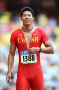 图文-刘翔出战110米栏预赛 中国选手亮相110米栏