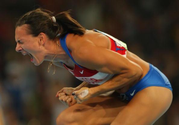 图文-奥运会女子撑杆跳决赛 伊辛巴耶娃大胜呐喊