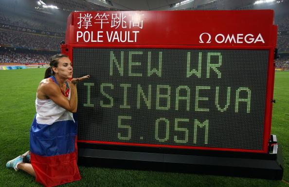 图文-奥运会女子撑杆跳决赛 伊辛巴耶娃创造纪录