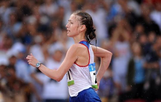 图文-田径女子20公里竞走决赛 卡尼斯金娜在比赛中