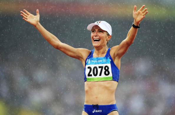 图文-田径女子20公里竞走决赛 里高多激动不已