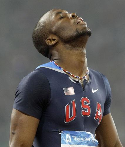 图文-田径男子400米决赛 享受幸福来临
