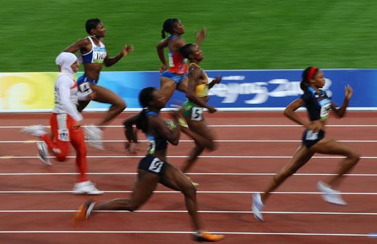 图文-女子200米半决赛赛况 费利克斯甩开对手