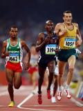 图文-奥运会男子5000米预赛 坚持一下就是胜利