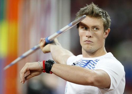 图文-田径男子标枪决赛打响 挪威选手冷静一投