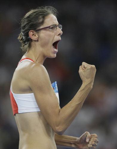 图文-田径女子跳高决赛打响 金牌已经在握
