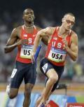 图文-奥运男子4X400米美国夺金 哥们就看你的了