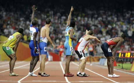 图文-奥运男子4X400米美国夺金 我在这里别错了