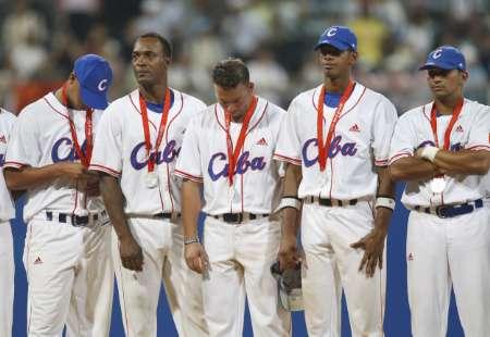 图文-[奥运]棒球韩国3-2古巴 古巴队不愿接受银牌
