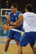 希腊男篮赛前训练