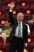 图文-澳大利亚83-64胜白俄罗斯 陆克文前来观战