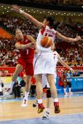 图文-女子篮球精彩瞬间回顾 陈楠封盖难阻对手