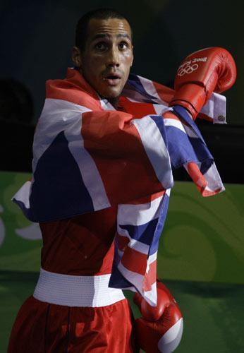 图文-拳击男子75公斤级决赛 英国拳王诞生