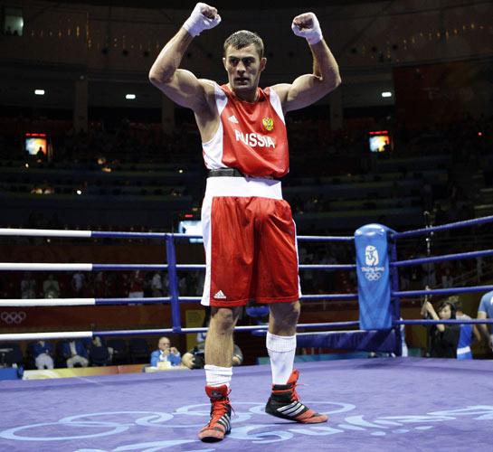 图文-拳击男子91公斤级决赛 恰赫基耶夫夺金