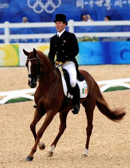 图文-奥运马术比赛三项赛盛装舞步 爱尔兰奥康纳