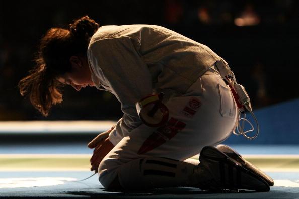 图文-女子佩剑个人赛 贝斯贝斯1/4决赛被淘汰