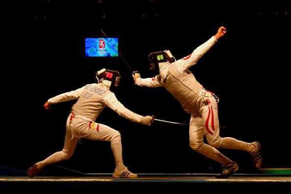 图文-击剑男子花剑个人赛 西班牙人内蒙德兹