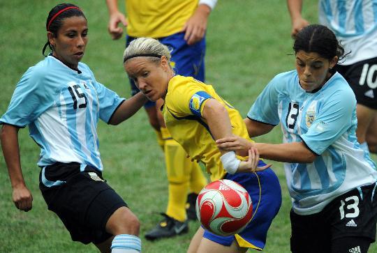 图文-[女足]瑞典1-0胜阿根廷 谁也别想得到它