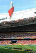 图文-奥运男子足球颁奖仪式 盛大而光荣的场面
