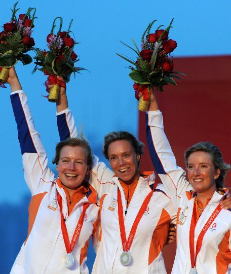 图文-奥运帆船帆板精彩回顾 荷兰选手获亚军