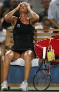 图文-网球女子单打11日赛况 邦达连科释放压力