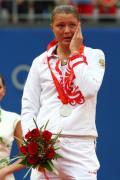 图文-奥运网球女子单打决赛 萨芬娜有些伤心