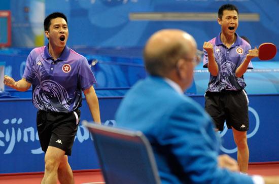 图文-北京奥运会乒乓球赛事开战 为胜利呐喊