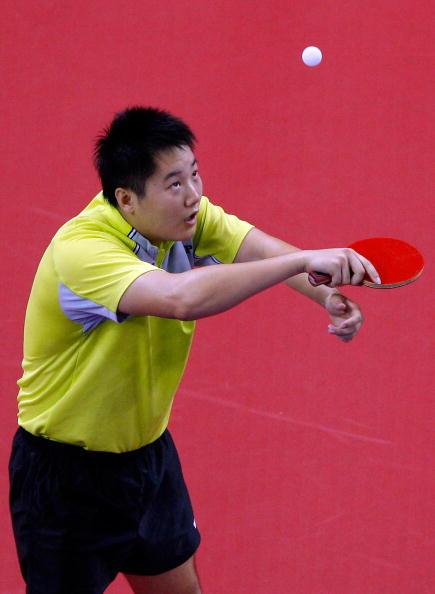图文-14日奥运会乒乓球赛况 他的眼里只有球