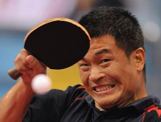 20日乒乓球男单赛况